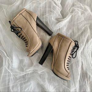 True Religion Peep Toe Ankle Boots